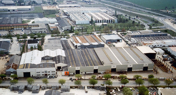 Aerial view of CEFAM S.A. Fabrications ATLAS manufacturing plant and offices