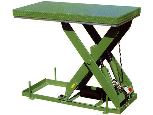 The lifting table type AVL is designed to fit many kind of applications.Capacity  from 500 to 2000 daN, Vertical lifting up to 1900 mm,Large choice of dimensions easily modifiable,Various specific additional equipments.