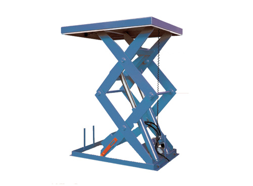 The lifting table type SL2 is designed to fit various applications.Capacity  from 500 to 2000 daN, Vertical lifting up to 2500 mm, Large choice of dimensions easily modifiable,Various specific equipments.